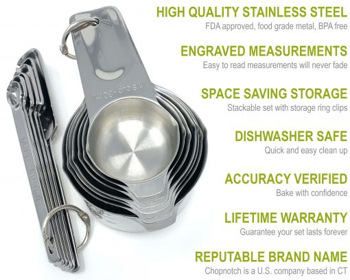 Chopnotch Measuring Cups and Spoons Set